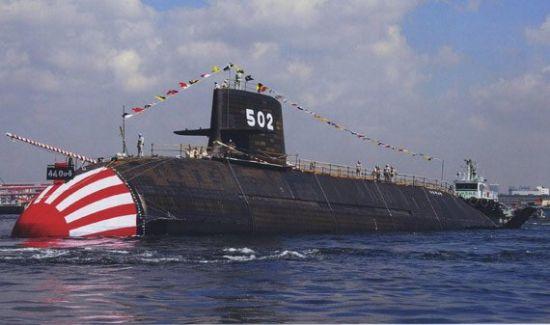 """资料图:日本""""苍龙""""级潜艇"""