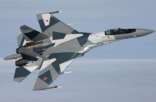 资料图:俄罗斯苏-35战斗机