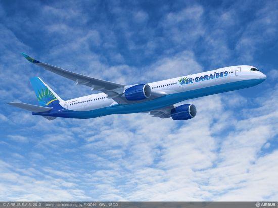 加勒比海航空涂装A350-1000飞机