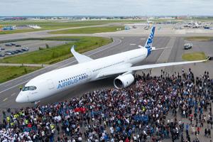 空中客车A350客机高清大图赏析