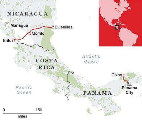 尼加拉瓜运河与巴拿马运河对比