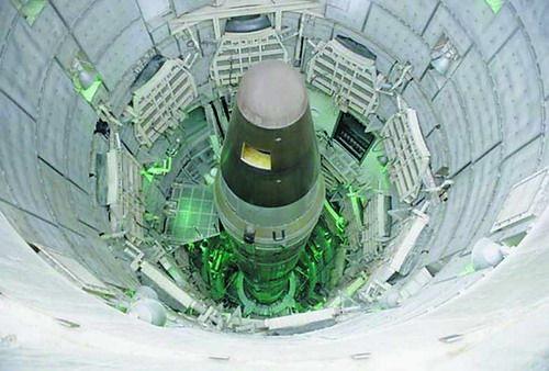 """资料图:美国""""民兵""""洲际弹道导弹"""