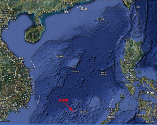 资料图:太平岛位置图
