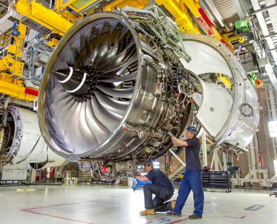罗尔斯罗伊斯遄达XWB-97发动机。