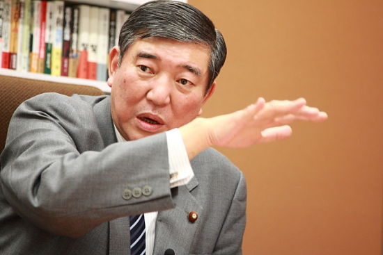 资料图:日本下届首相有力人选石破茂