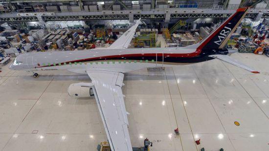 MRJ型支线客机为双引擎喷气式支线客机,载客70至90人