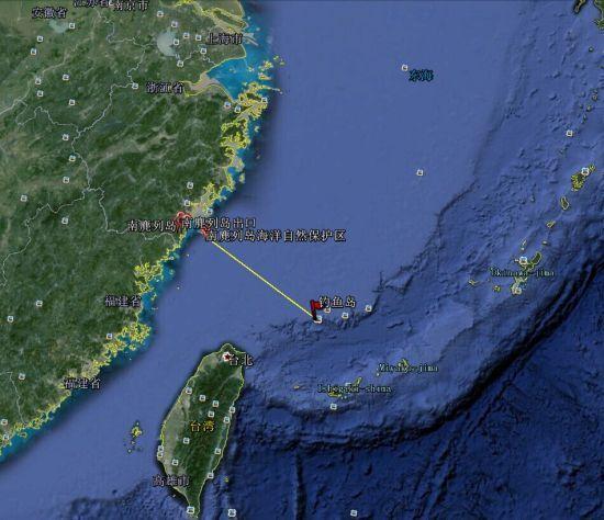 资料图:南麂列岛位置详解图