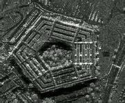 资料图:合成孔径雷达获得的图像,图为美国五角大楼