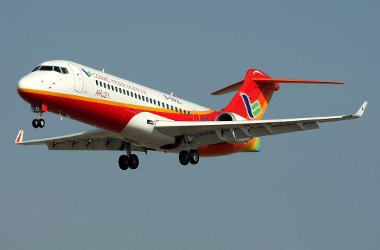 资料图:中国ARJ21客机正在试航
