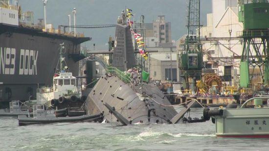 资料图:日本第6艘苍龙级AIP潜艇黑龙号下水