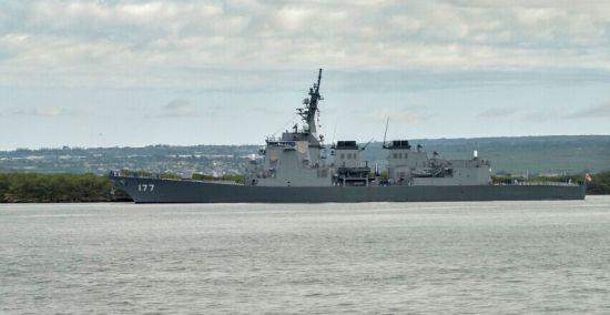 资料图:日本海上自卫队DDG-177爱宕号战舰