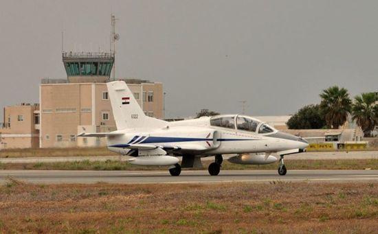 资料图:今年马耳他航展上出现的埃及K-8教练机