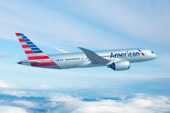 美国航空于近日正式迎来首架波音787梦想客机