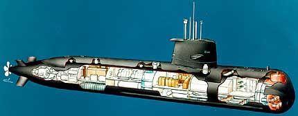 """瑞典""""哥特兰""""级通例潜艇外部布局图"""