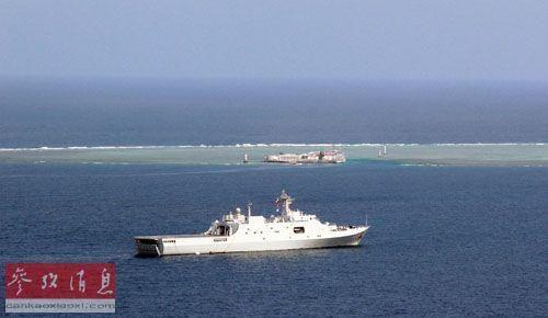 资料图:中国南海舰队舰艇在南沙群岛附近海域巡航