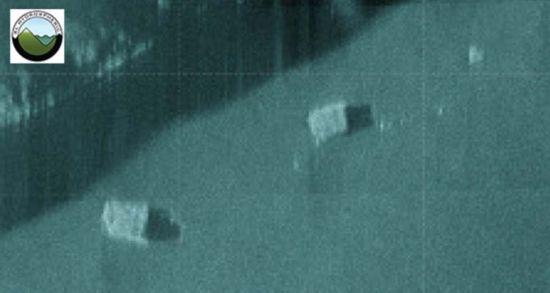 """马来西亚""""凤凰号""""捕捉到疑似MH370飞机残骸的声呐图像。"""