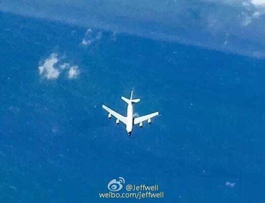 资料图:网友拍到的RC135侦察中国沿海
