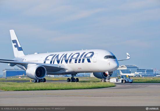 芬兰航空首架空客A350XWB宽体客机