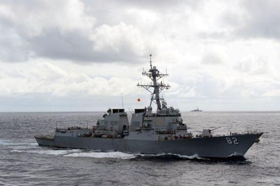 资料图:美军拉森号驱逐舰
