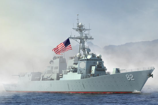 美军拉森号驱逐舰