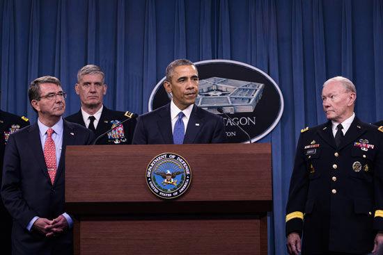奥巴马与美国军方高层(资料图)
