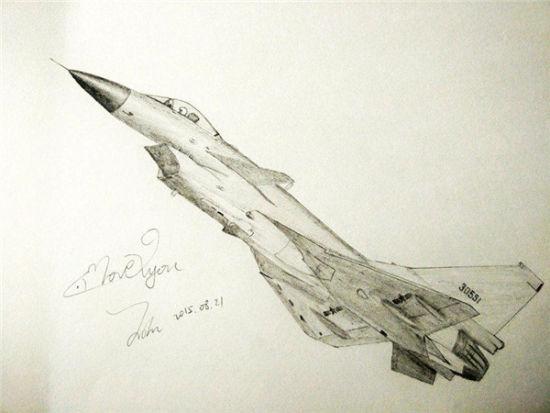 歼-10战斗机(王晗 画)