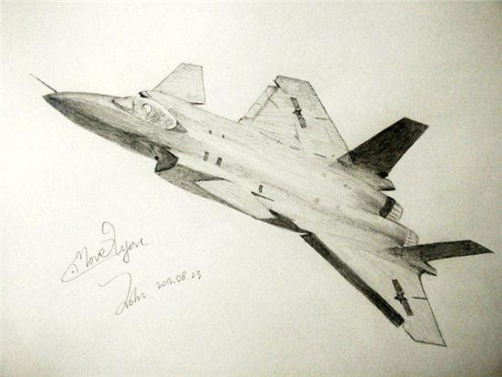 歼-20战斗机(王晗 画)