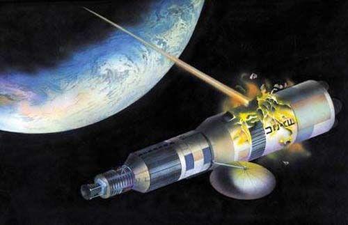 美军卫星被捣毁设想图。(图像来历于收集)