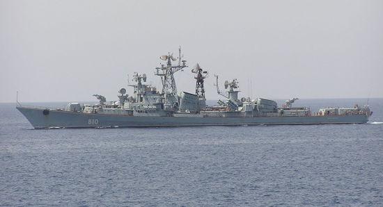 """俄罗斯卡辛级驱逐舰""""机敏""""号"""