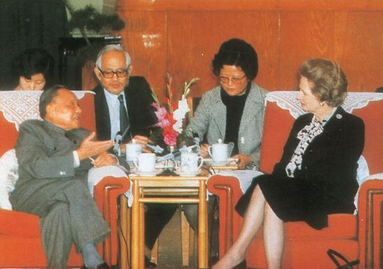 资料图:邓小平会见撒切尔夫人