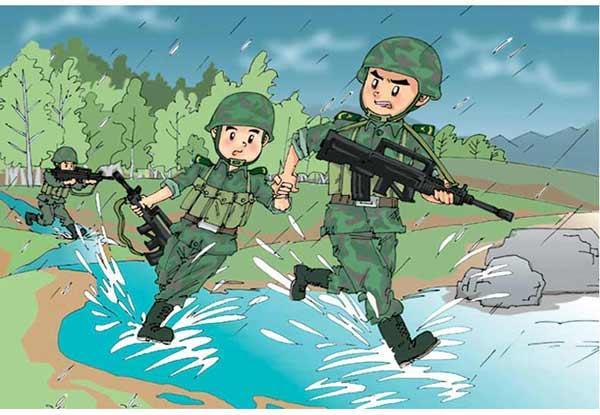 连队新风军营漫画