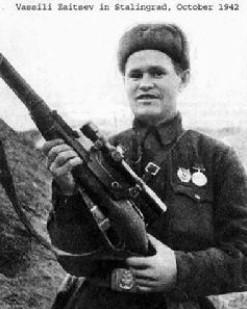 """4、""""德军狙击王克星""""瓦西里。扎依采夫(前苏联)"""