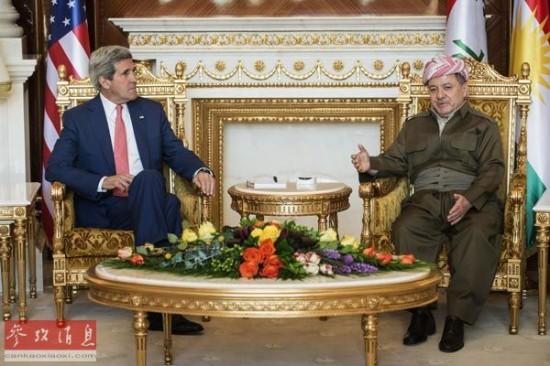 外媒:美国务卿克里访伊拉克欲挽狂澜