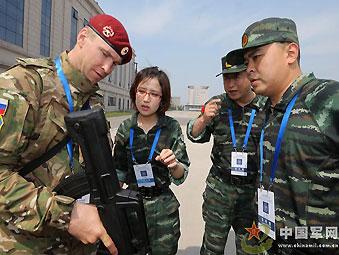 组图:中国精锐武警与俄罗斯内卫部队在京联合训练-2013年06月13日图片