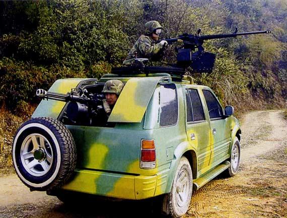 M98型火力突击车配备前置顶置后置武器系统