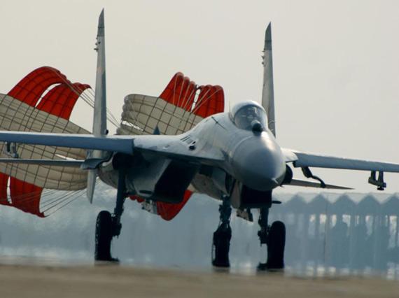 美称中国在边境部署苏-27战机保护朝鲜(组图)