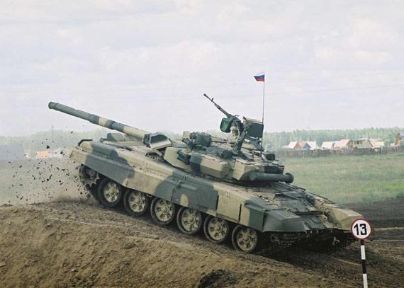 图文:俄军目前只装备大约60辆不怎么先进的T-90C