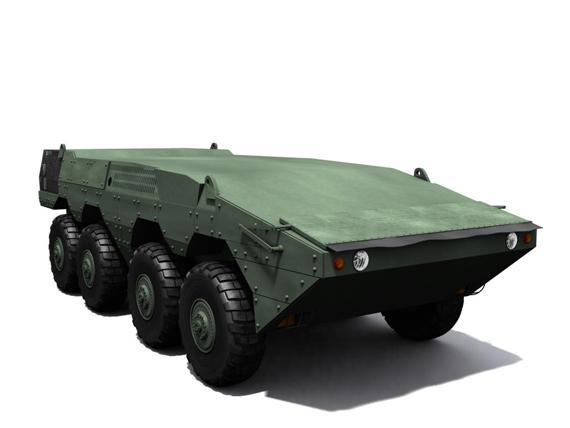 国产新型8X8轮式战车3D效果图