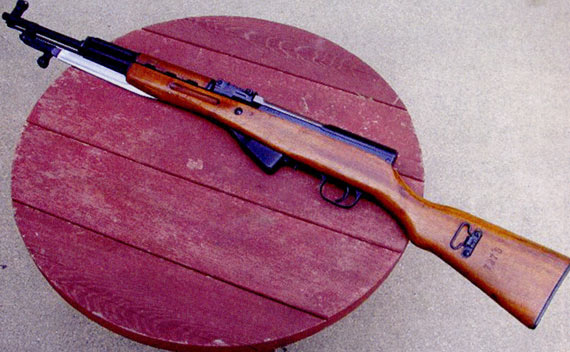出口美国的中国早期生产的采用折叠式扁刺的军用型56式半自动步枪