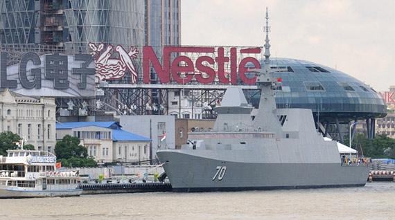 新加坡海军接收最后一艘可畏级隐形战舰(组图)