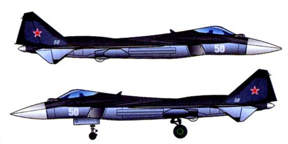 俄空军五代战机方案侧视图