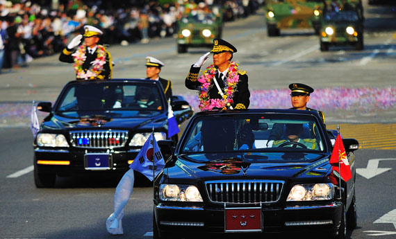 South Korea held a large military parade