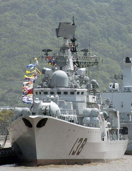 资料图:中国海军138号现代级导弹驱逐舰