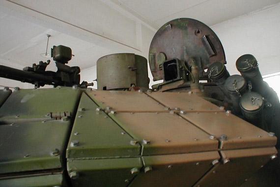 图文:59D主战坦克反应装甲模块特写