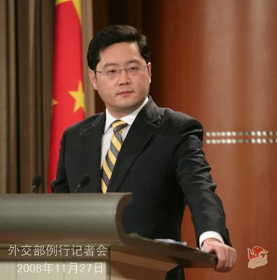 外交部发言人秦刚:沃维汉间谍案,不因有外国亲属而区别对待