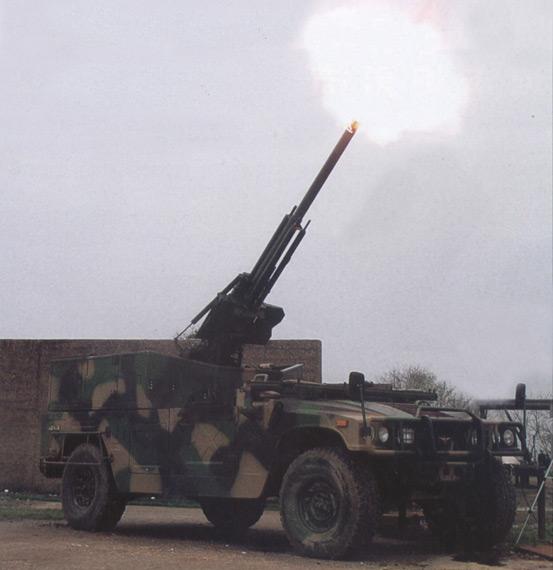 国产SM4型车载速射迫击炮