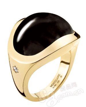 黑玛瑙戒指/万宝龙