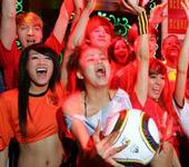 长沙:球迷欢聚唱世界杯之歌