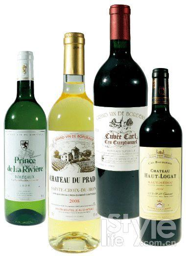 河堡王子干白葡萄酒2009年;帕岱庄园贵腐甜白葡萄酒2008年;塞甘古堡卡尔陈酿干红葡萄酒2008年;上罗加庄园2006年