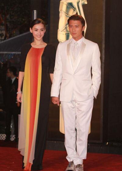 谢霆锋和张柏芝携手参加金像奖典礼
